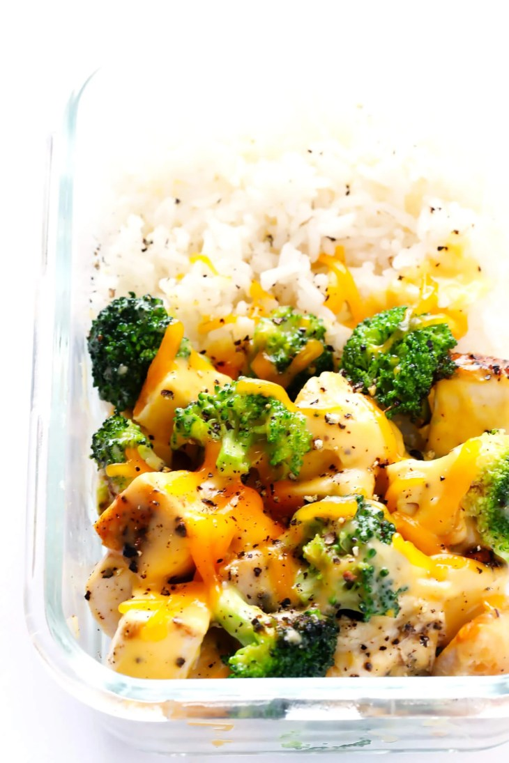These Cheesy Broccoli, Chicken and Rice Bowls are perfect for easy meal  prep or weeknight