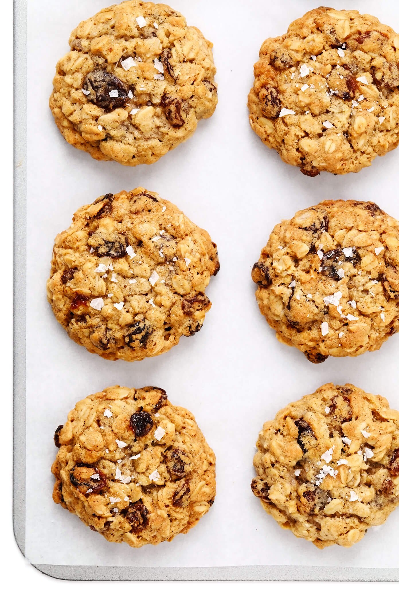 Oatmeal Raisin Cookies with Flaky Sea Salt