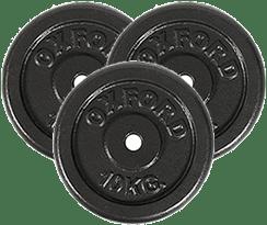 peso 3 discos de 10 kilos