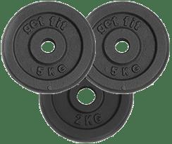 3 discos 12 kilogramos para barra