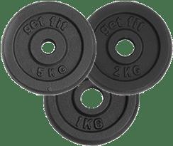 3 discos 8 kilogramos para barra