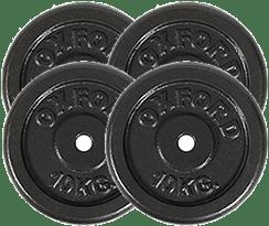 peso 4 discos de 10 kilos