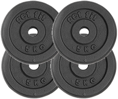 4 discos 5 kilogramos para barra