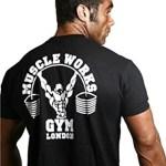 camiseta negra muscleworks negra