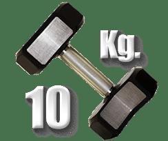 peso 10 kilogramos mancuerna