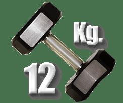 peso 12 kilogramos mancuerna