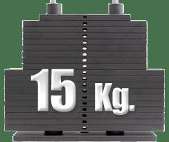 peso 15 kilos en polea baja