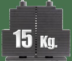 peso 15 kilogramos polea alta gimnasio