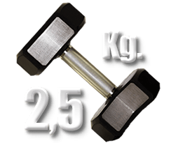 peso 2,5 kilogramos mancuerna