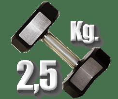 peso 2 kilogramos y medio mancuerna