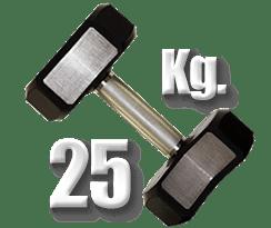 peso 25 kilogramos mancuerna