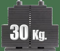peso 30 kilogramos polea alta gimnasio