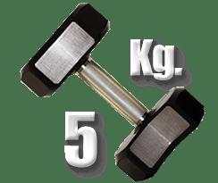 peso 5 kilogramos mancuerna