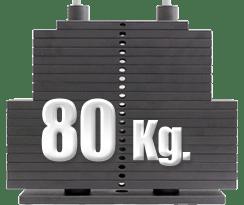 peso 80 kilogramos polea alta gimnasio