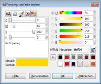 Suche Farbe Gold - GIMP-Werkstatt