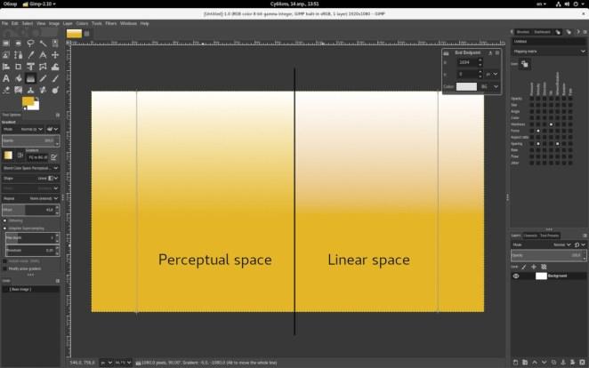 Ferramenta de gradiente no espaço linear