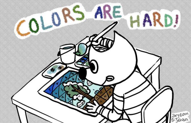 As cores são difíceis, por Aryeom