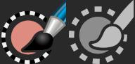 Novo ícone de ferramenta de seleção de tinta de Yash Arya e Aryeom - GIMP 2.99.6