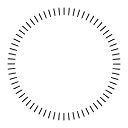 Circle of Dashes Help [SOLVED] • GIMP Chat