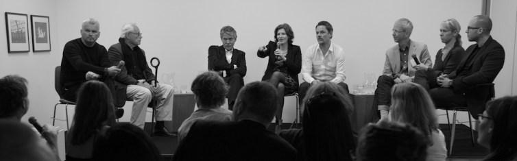 Panelists Professor Klemp and Markus Diebel with Moderator Stefanie Then | Photo © 2011 John McDermott