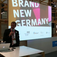 """State Secretary Stefan Kapferer opening the """"Brand New Germany"""" exhibition at BODW 2011"""