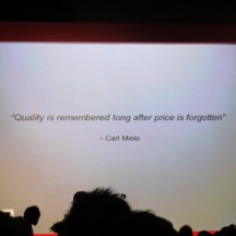 Founder Carl Miele's philosophy