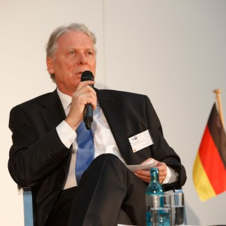 Dr. Michael Schaefer, Ambassador of Germany in China at Greater China Day in Frankfurt. Photo: IHK Frankfurt / Markus Goetzke