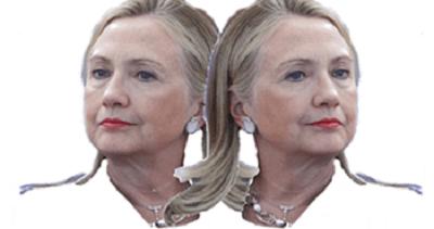 2 faced Hillary