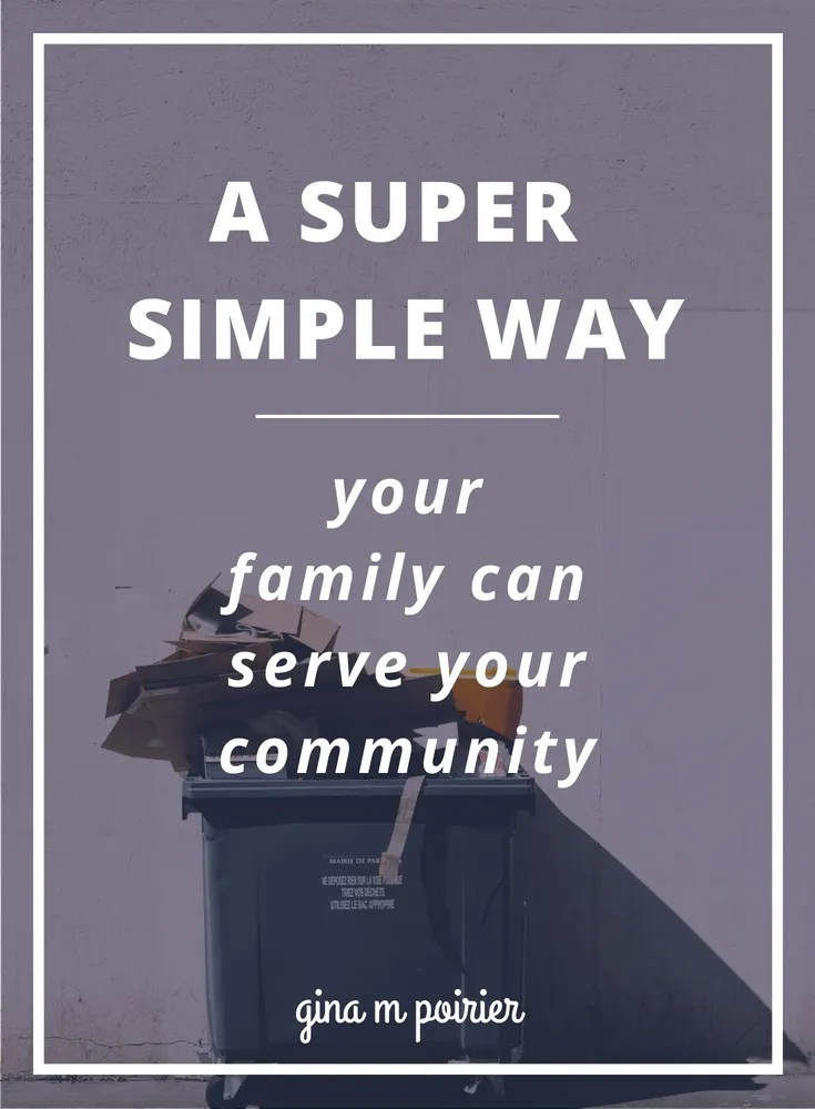 You know you want your family to volunteer more, but do you find it difficult to find practical ways to serve your community (not to mention the time)? This volunteer idea might help you think a bit differently!