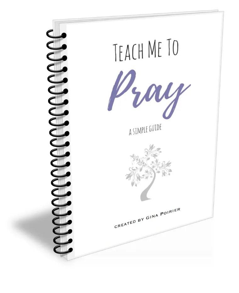 Printable Prayer Journal: Teach Me To Pray