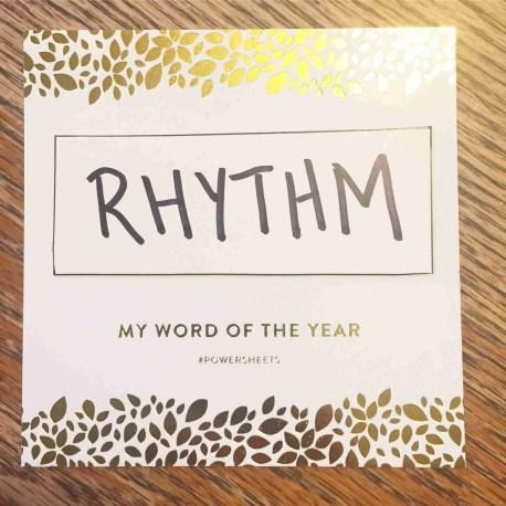 Word of the Year: RHYTHM