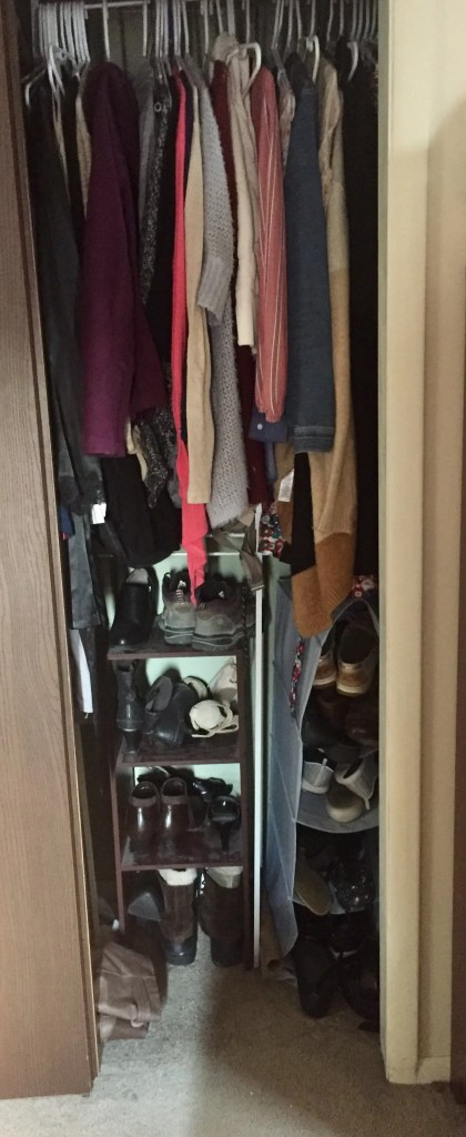 closet 3 years after KonMari