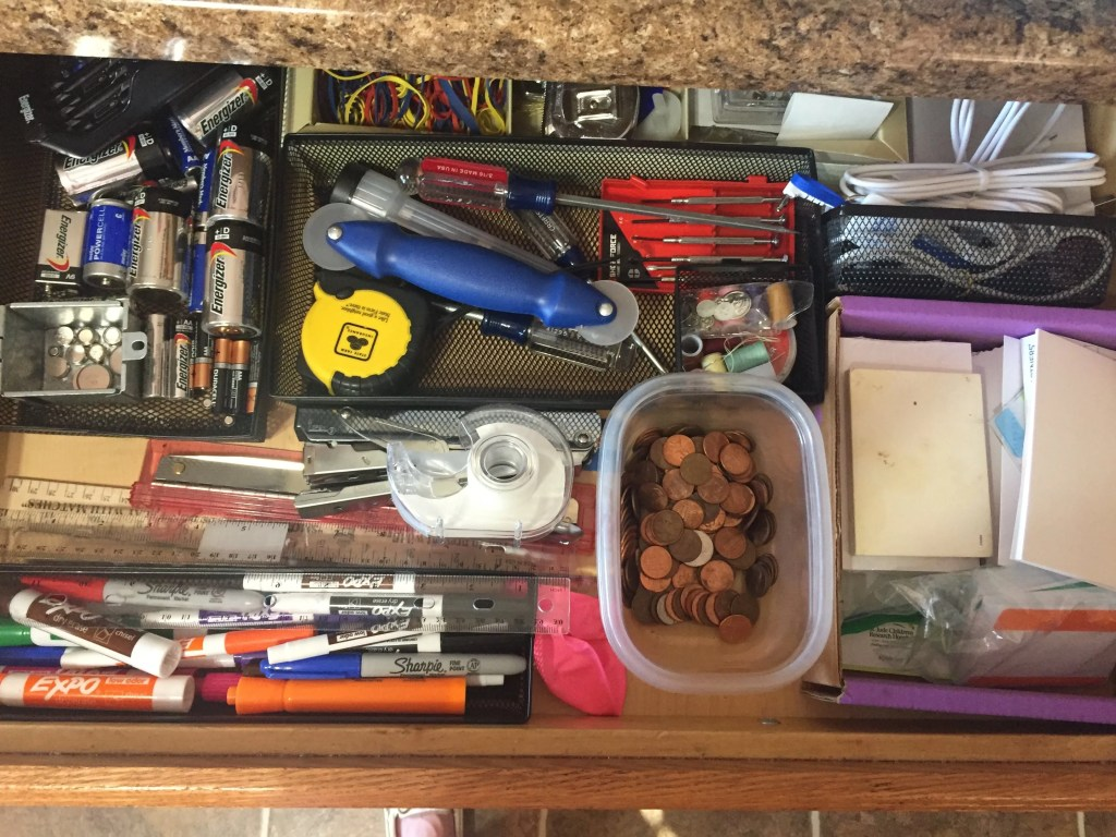 KonMari organized junk drawer