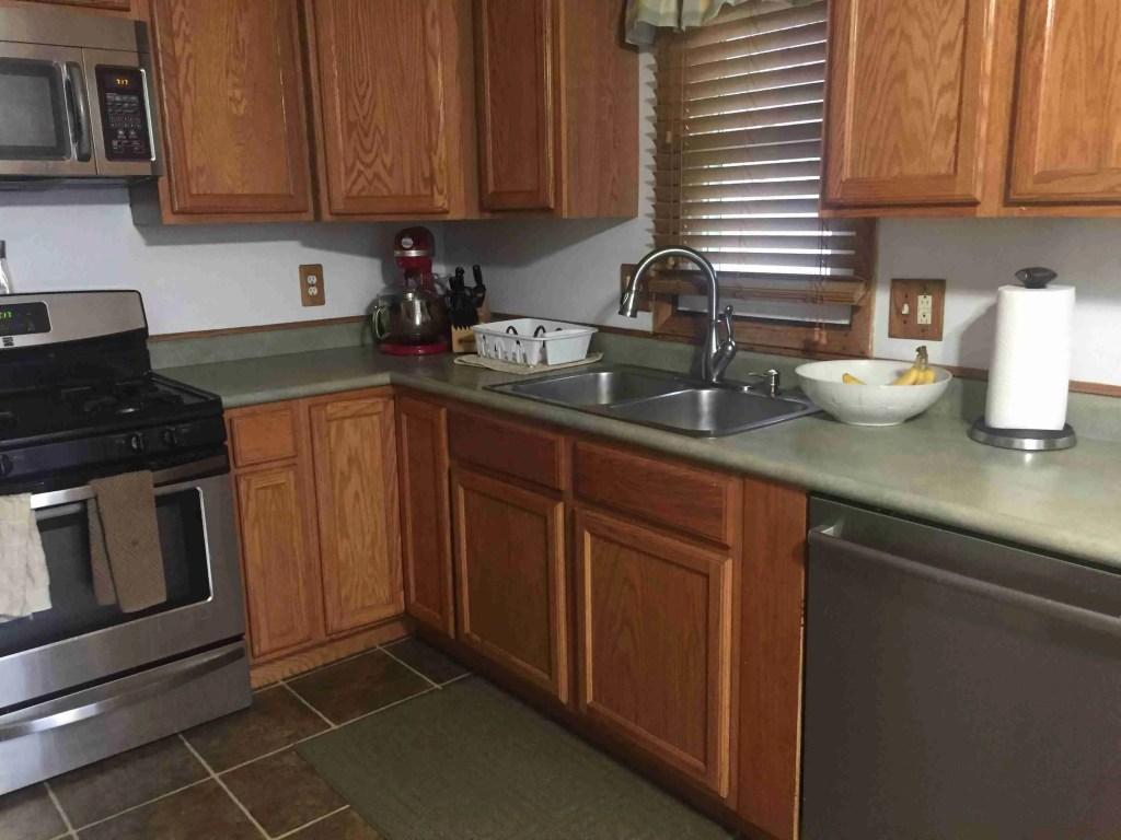 kitchen after KonMari decluttering