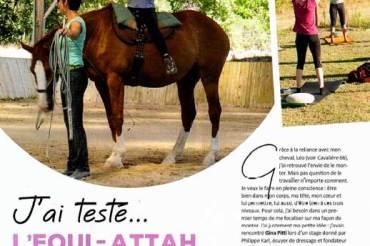 «J'ai testé l'Equi-Attah» – Magazine Cavalière N°67
