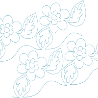 Continuous Single Line Quilting Flowers  610  Gina ...