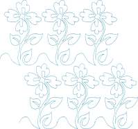 Continuous Single Line Quilting Flowers - 4x4  Gina ...