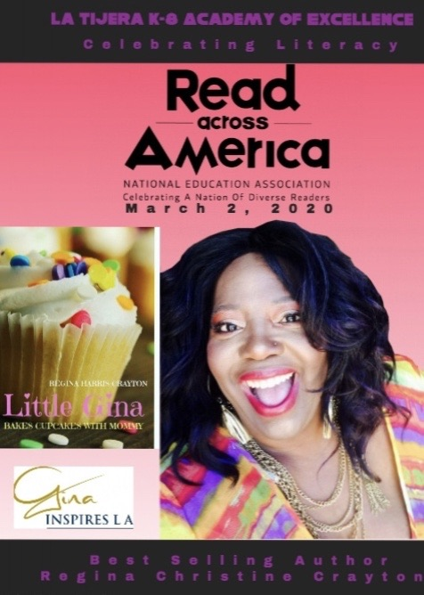 Children's Book -Autographed Copy Little Gina Bakes Cupcakes With Mommy