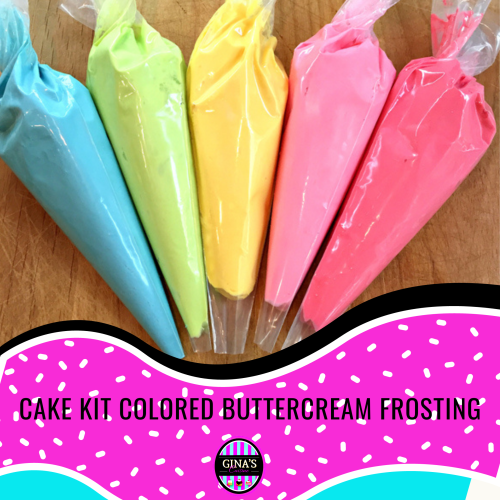 UPGRADE Option – DIY Cake Kit Colored Buttercream (per piping bag)