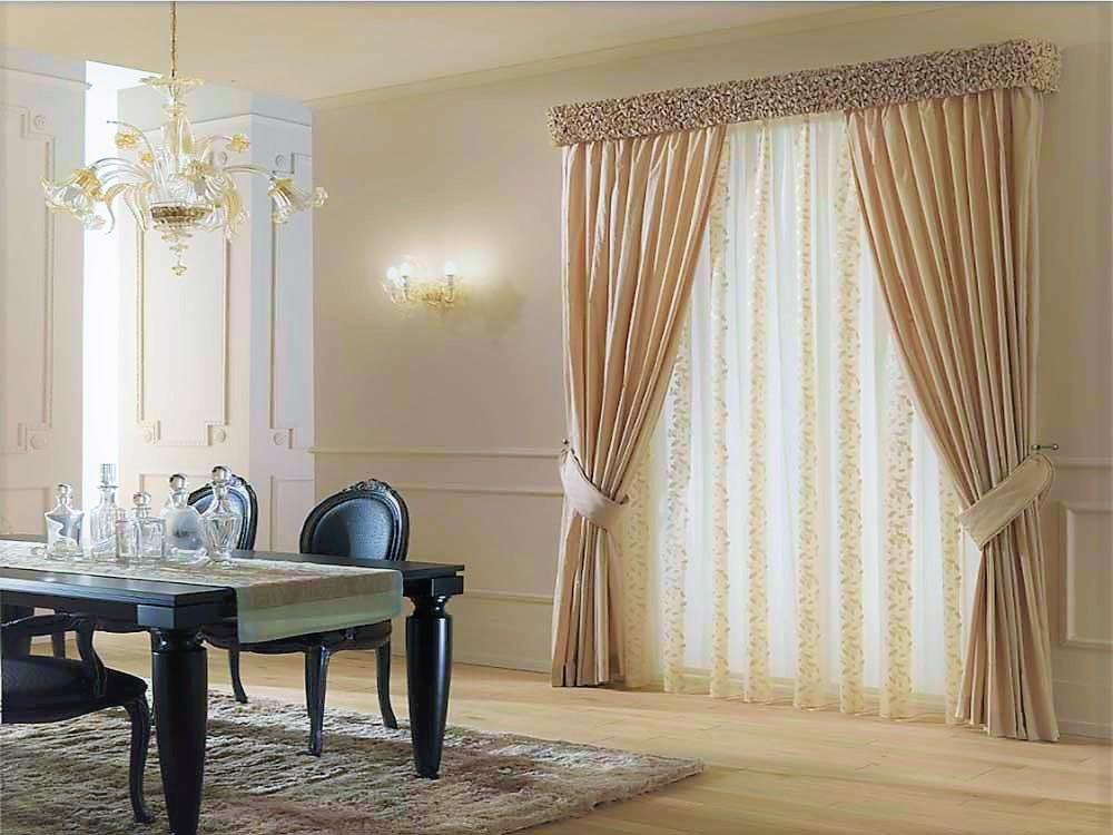 Tende a pannello, tende classiche e drappeggi, decorazioni per finestre,. Mantovana Classica Sbuffettata In Tessuto Tafta Gina Tendaggi
