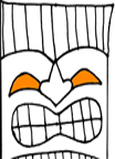 Tissue Box Tiki Faces – Free Pattern