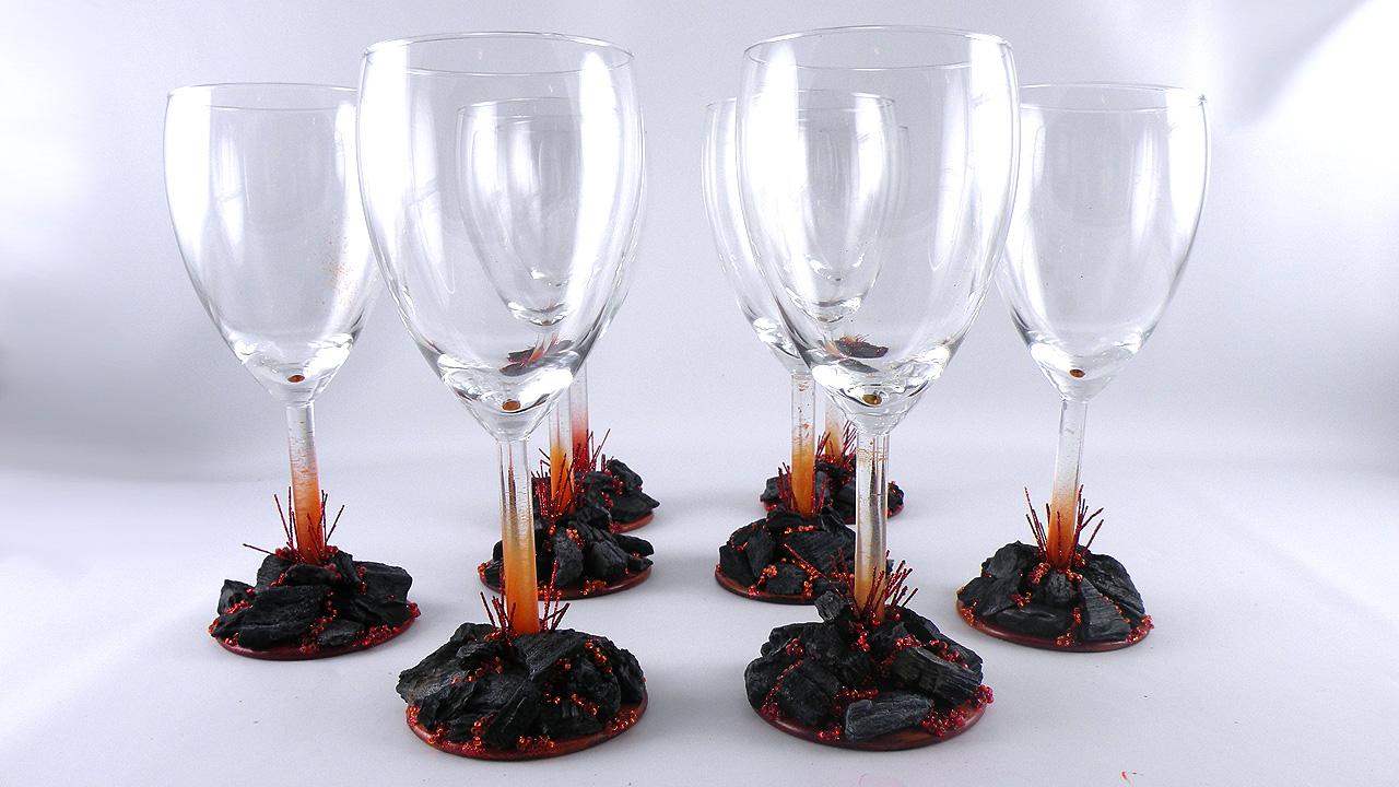 DIY Volcano Wine Glasses Gina Tepper