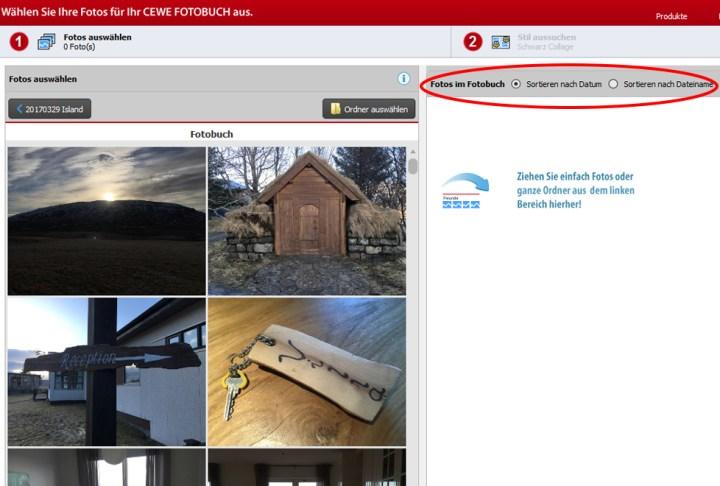 Cewe Fotobuch Fotos automatisch sortieren www.gindeslebens.com