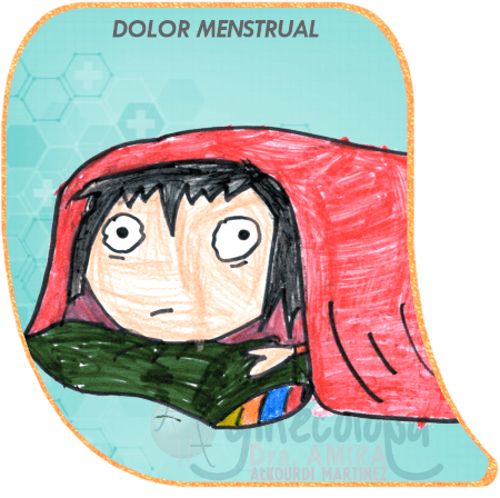dolor menstrual cama niña acostada propia