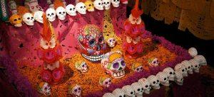 DIA DE MUERTOS GINEMED  GINEMED DIA DE MUERTOS photoEscudo Dia de Muertos tradicion y sabor Dia de Muertos1 300x137