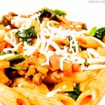 Penne Pasta with Spinach & Carrots