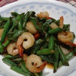 Green Beans with Prawns