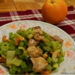Celery with Chicken and Cashew nuts