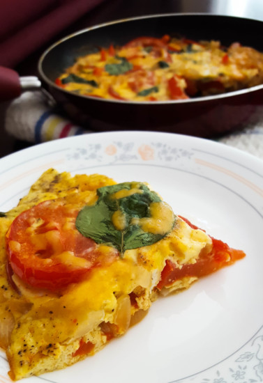 Sunday Morning Tomato Basil Frittata