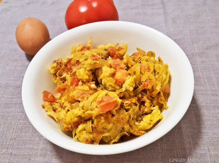 Tomato & Onion Scramble